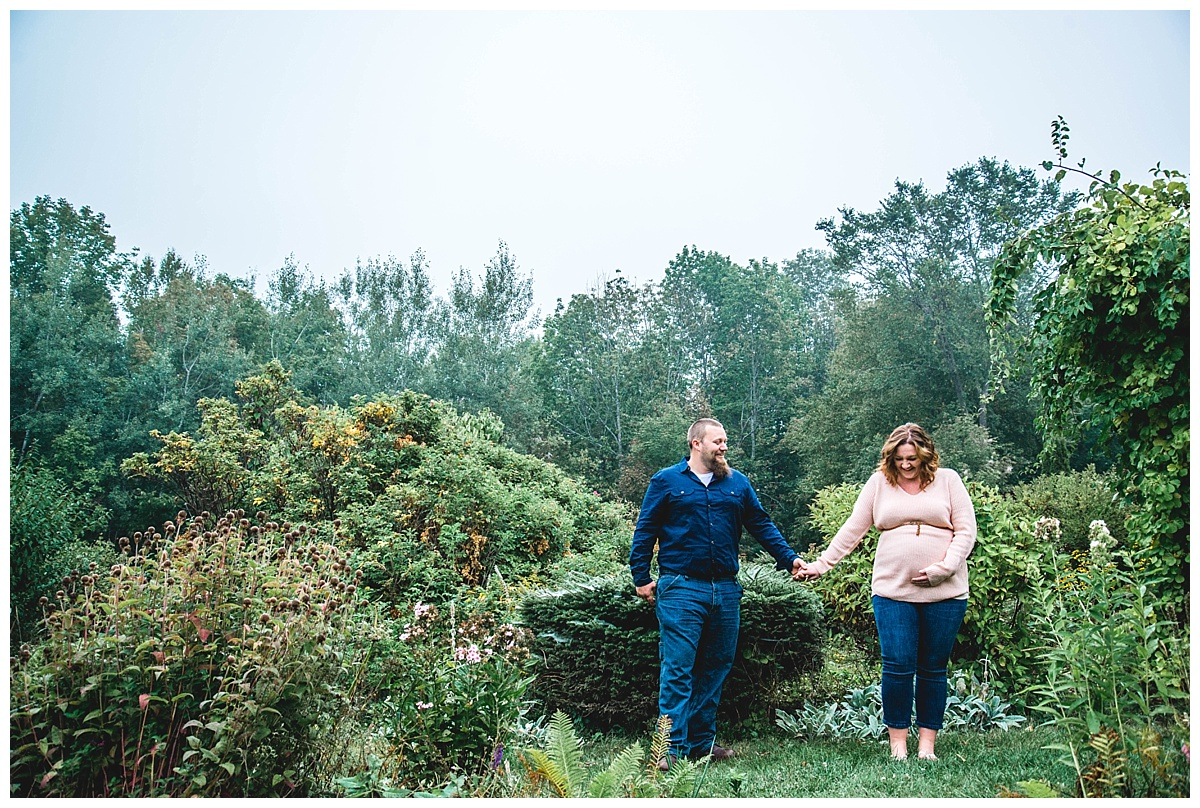 danny & amanda | foggy engagement + maternity