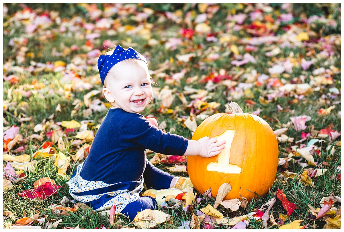 hope's 1st birthday | fall family session
